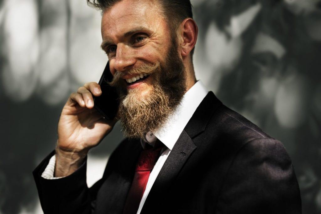 Investor - man on phone
