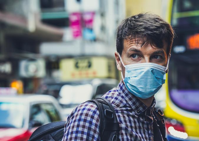 Coronavirus - man with mask pic